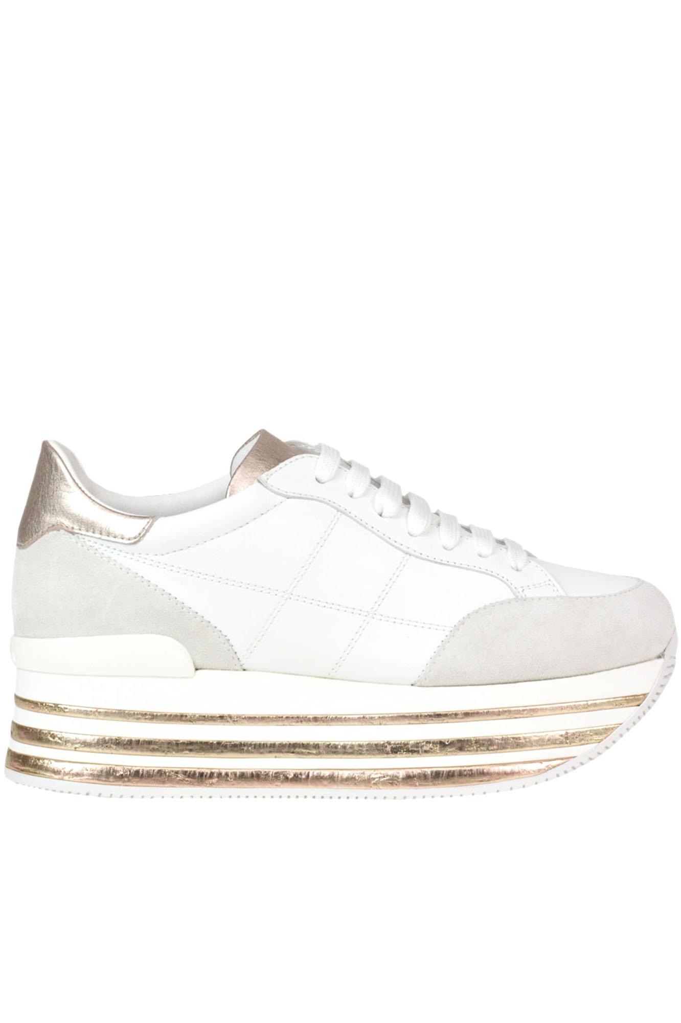 17e441f5bf Hogan 'Maxi 222' Wedge Sneakers In White | ModeSens