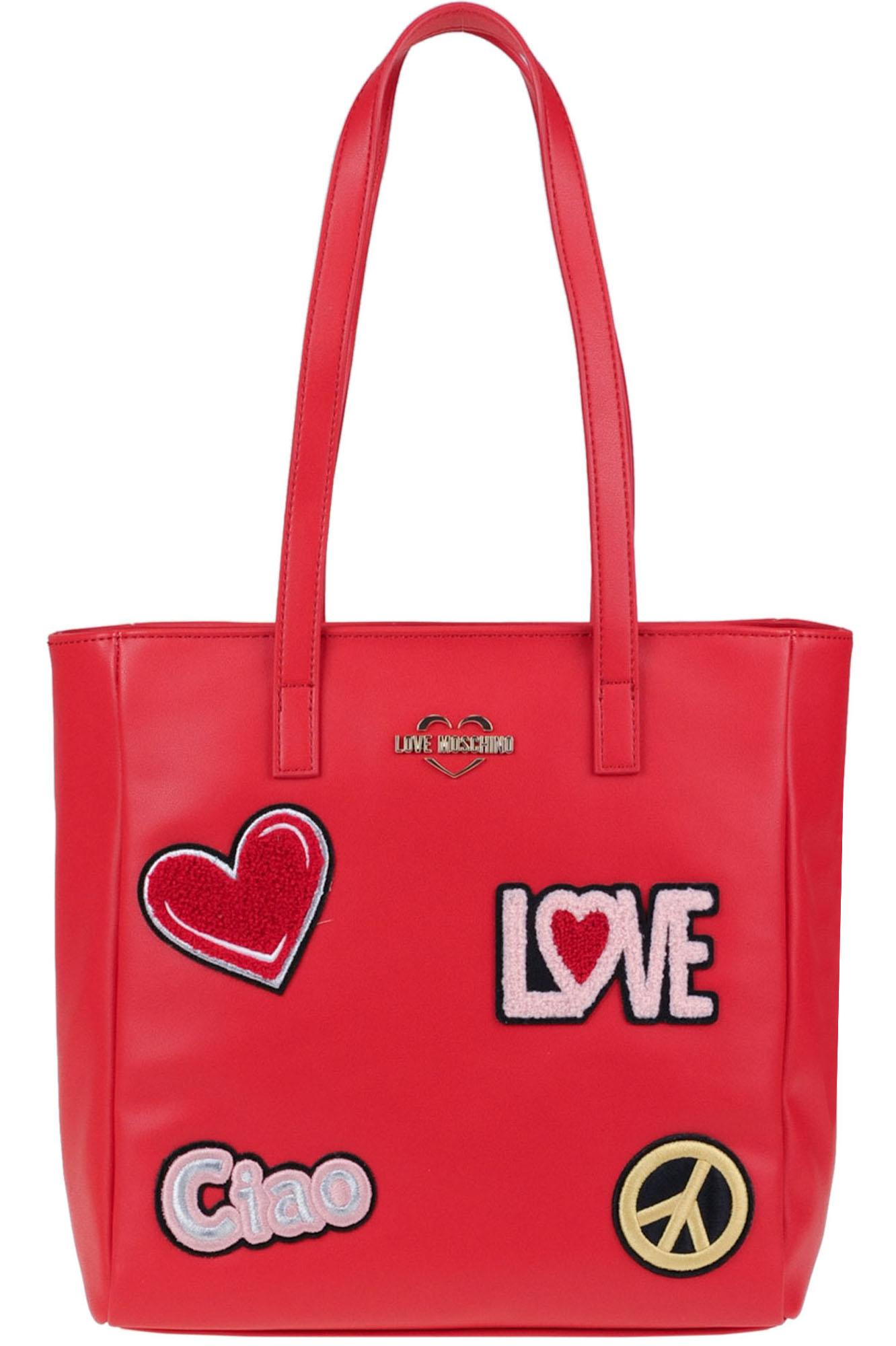 Love Moschino EMBELLISHED ECO-LEATHER BAG