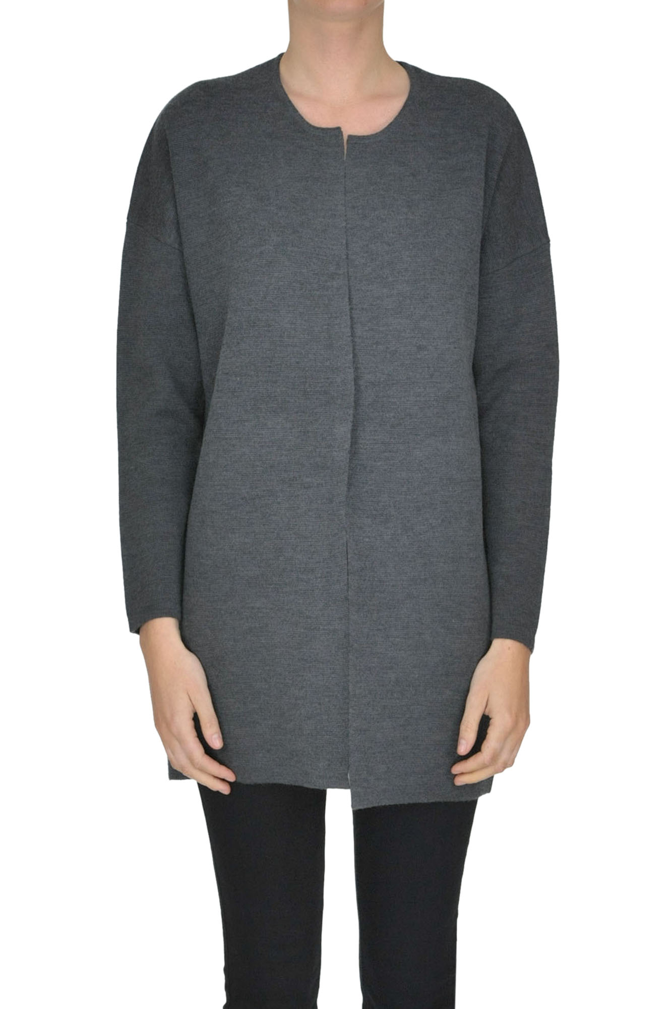 SEVENTY Structured Cardigan in Charcoal