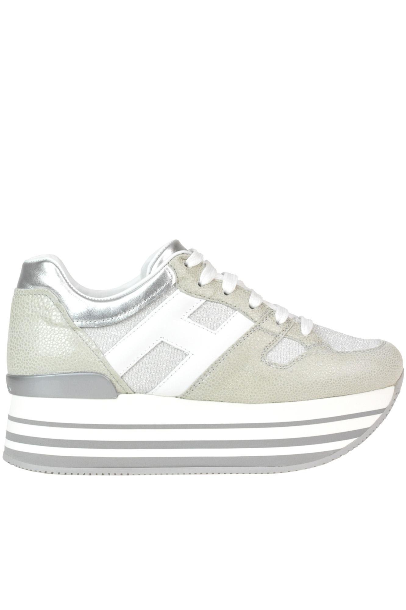 601db95d0d Hogan 'Maxi 222' Wedge Sneakers In Light Grey | ModeSens