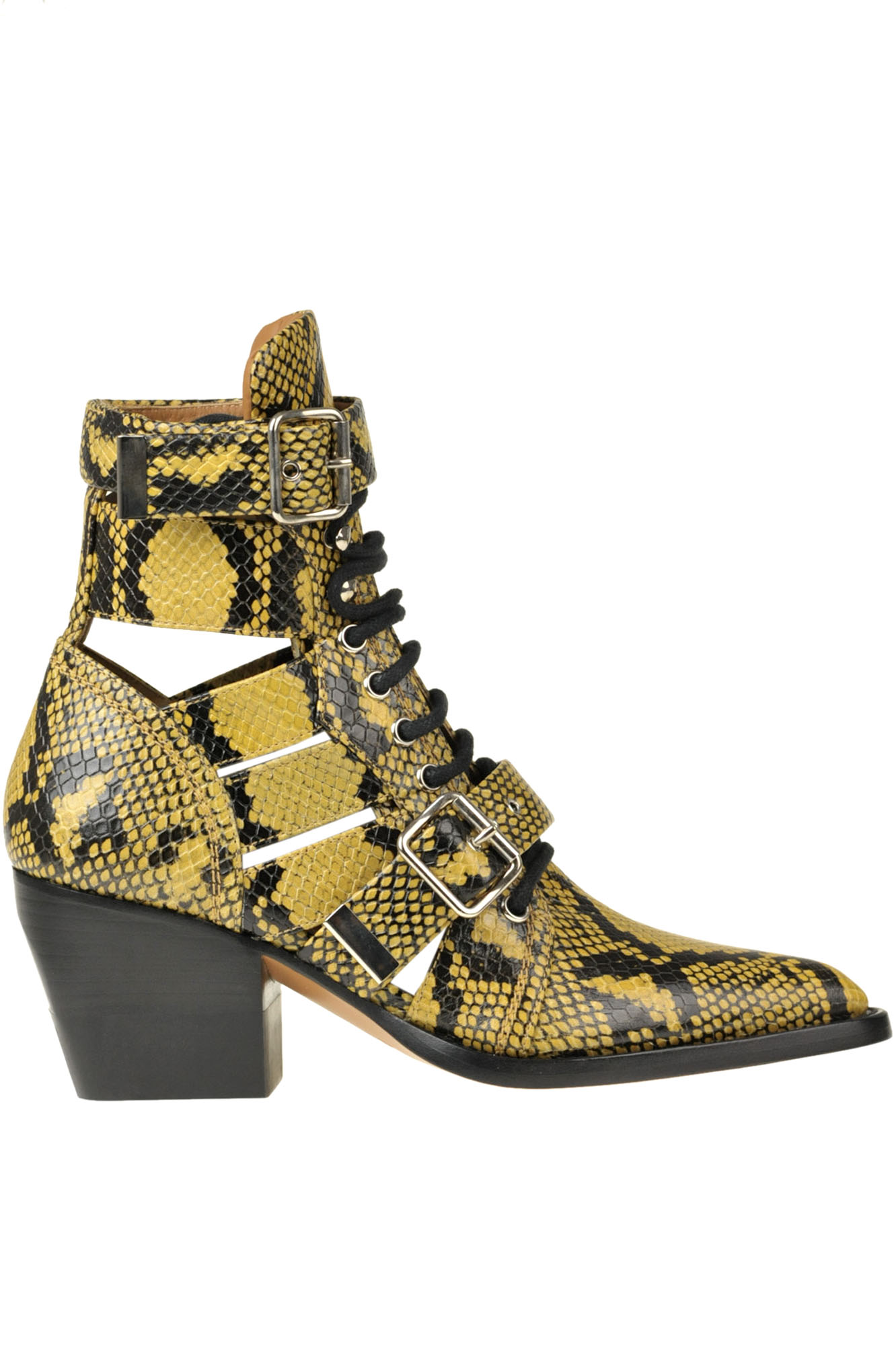 Chloé RYLEE REPTILE PRINT LEATHER ANKLE-BOOTS