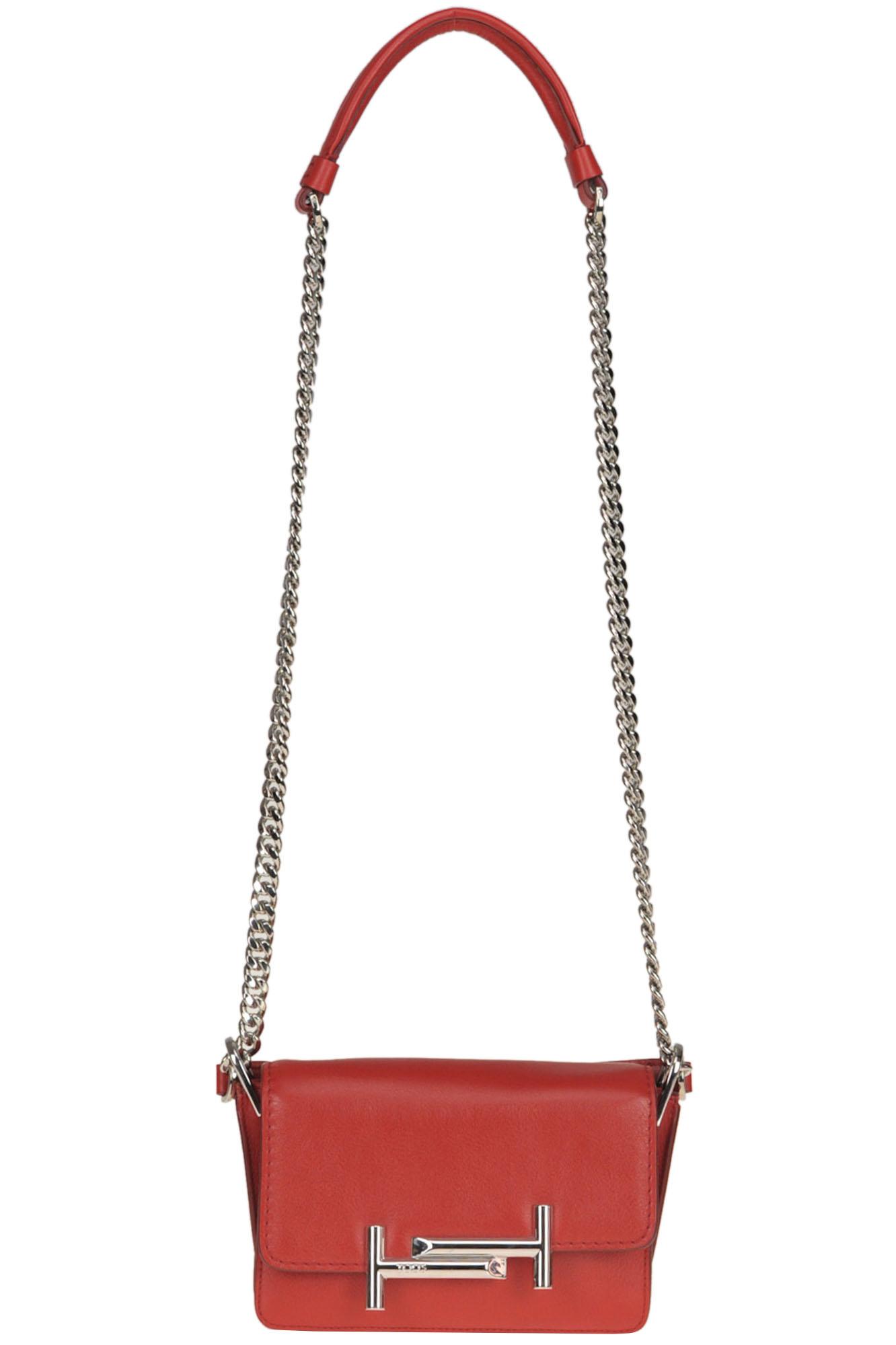 Tod's Amu Mini Pattina Bag In Red