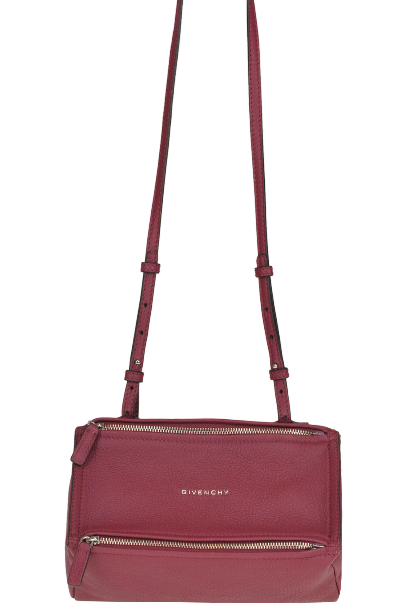 Givenchy Pandora Grainy Leather Bag In Raspberry