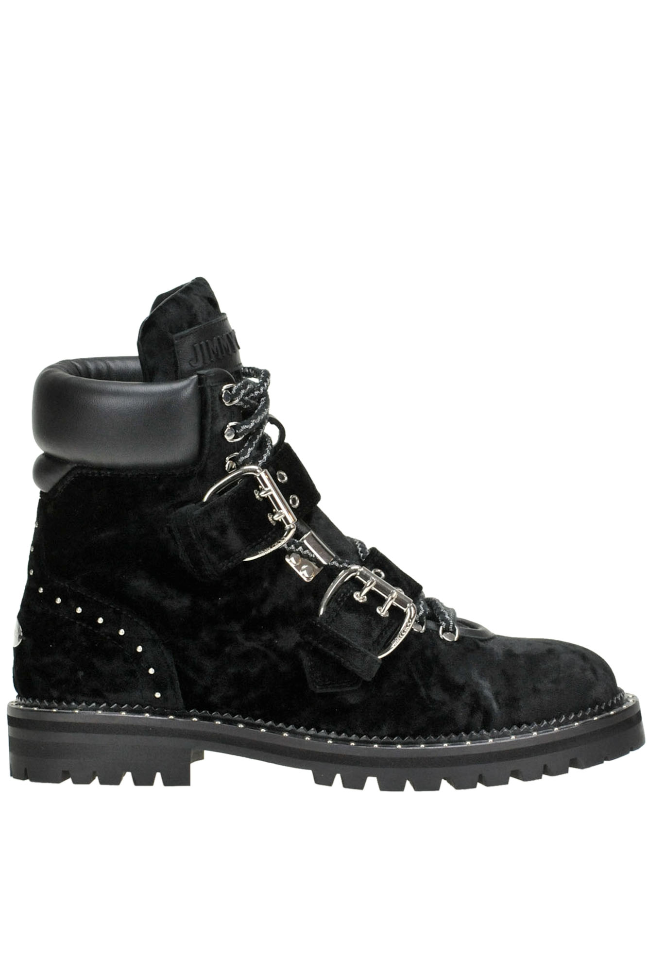 4ea7eb8bf1d5 Jimmy Choo Breeze Velvet Lace-Up Boots In Black