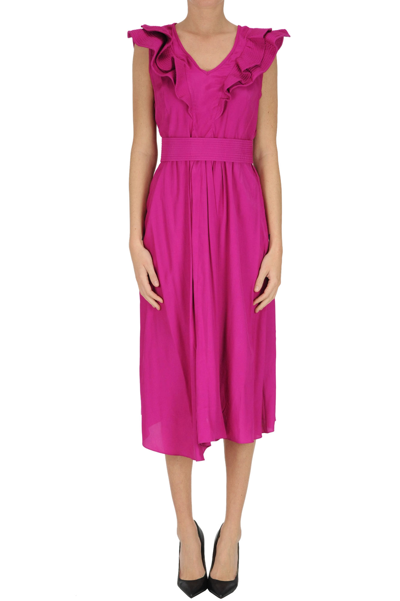 Isabel Marant Étoile Fuchsia Polyester Dress In Pink