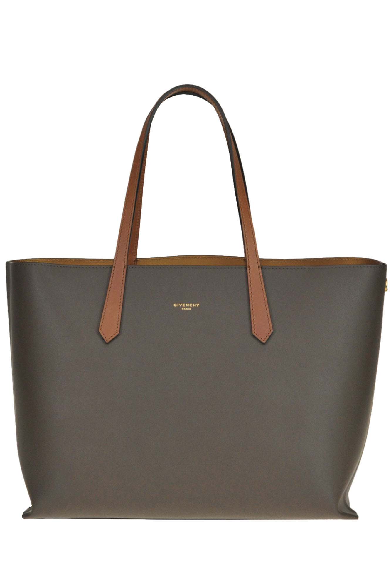 Givenchy Gv Leather Shopping Bag In Dark Brown