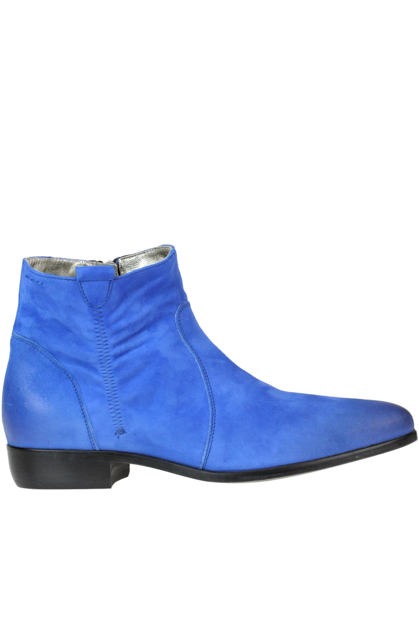 ALEXANDER HOTTO Suede Ankle-Boots in Electric Blue