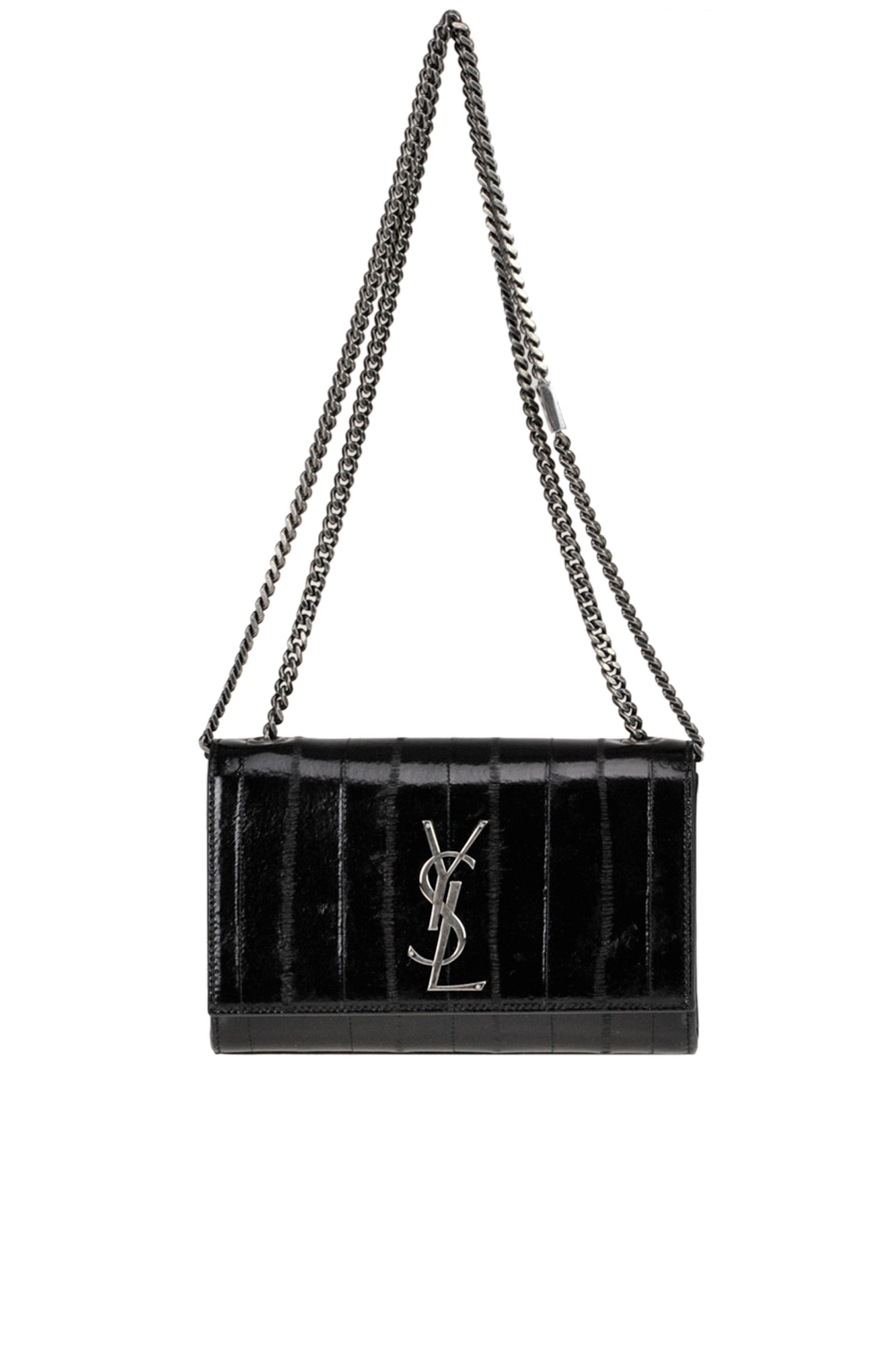 Saint Laurent New S Kate Leather Bag In Black