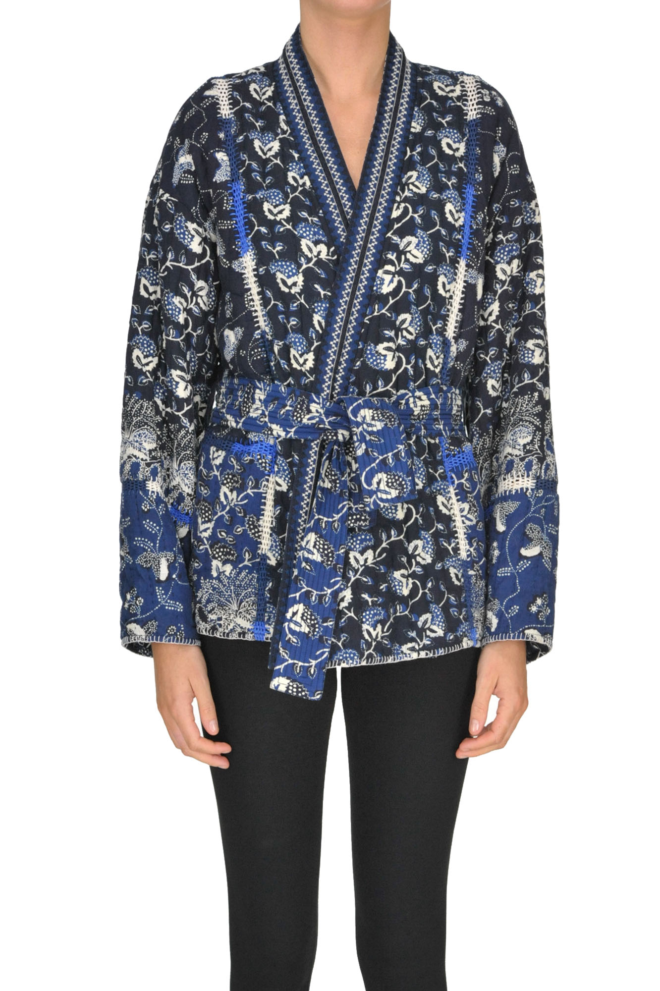 Ulla Johnson Kimono Style Jacket In Navy Blue
