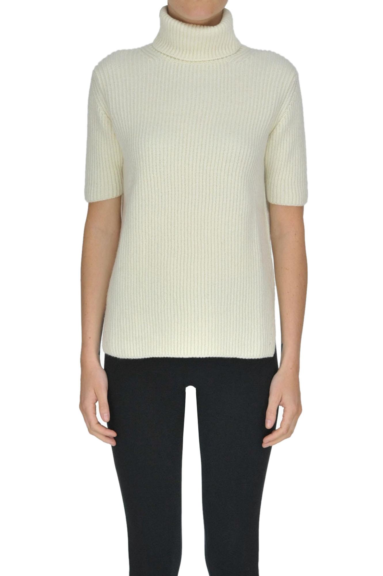 ALYKI Turtleneck Cashmere Pullover in Cream
