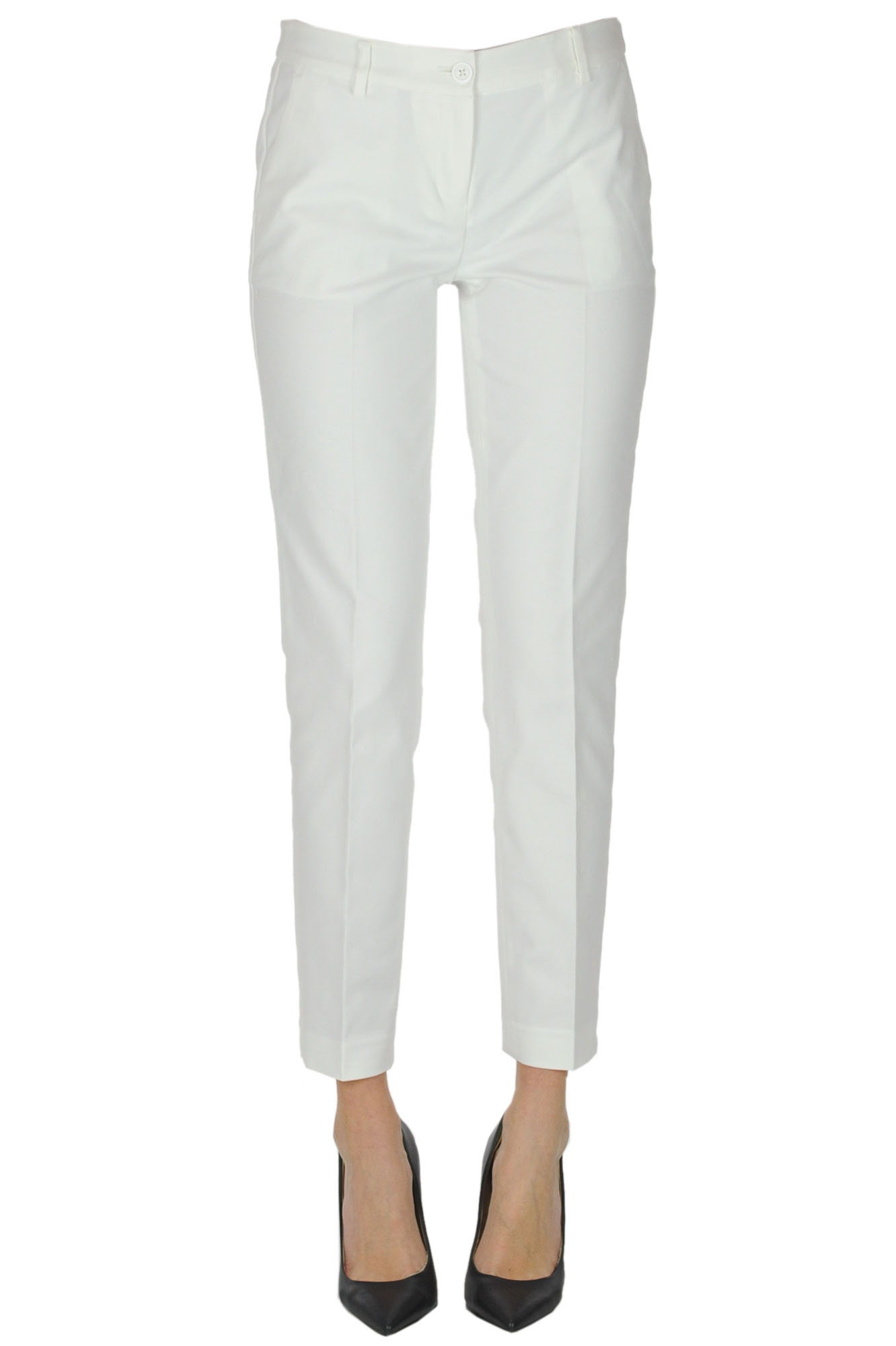 Michael Michael Kors COTTON SLIM TROUSERS
