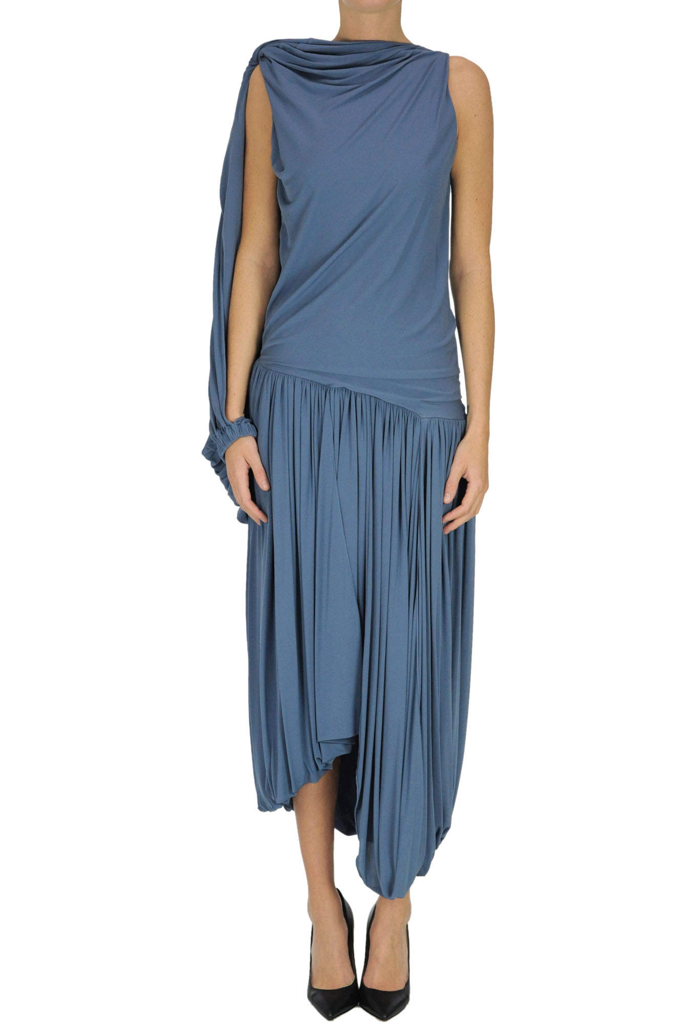 Jw Anderson DRAPED ONE-SLEEVE DRESS