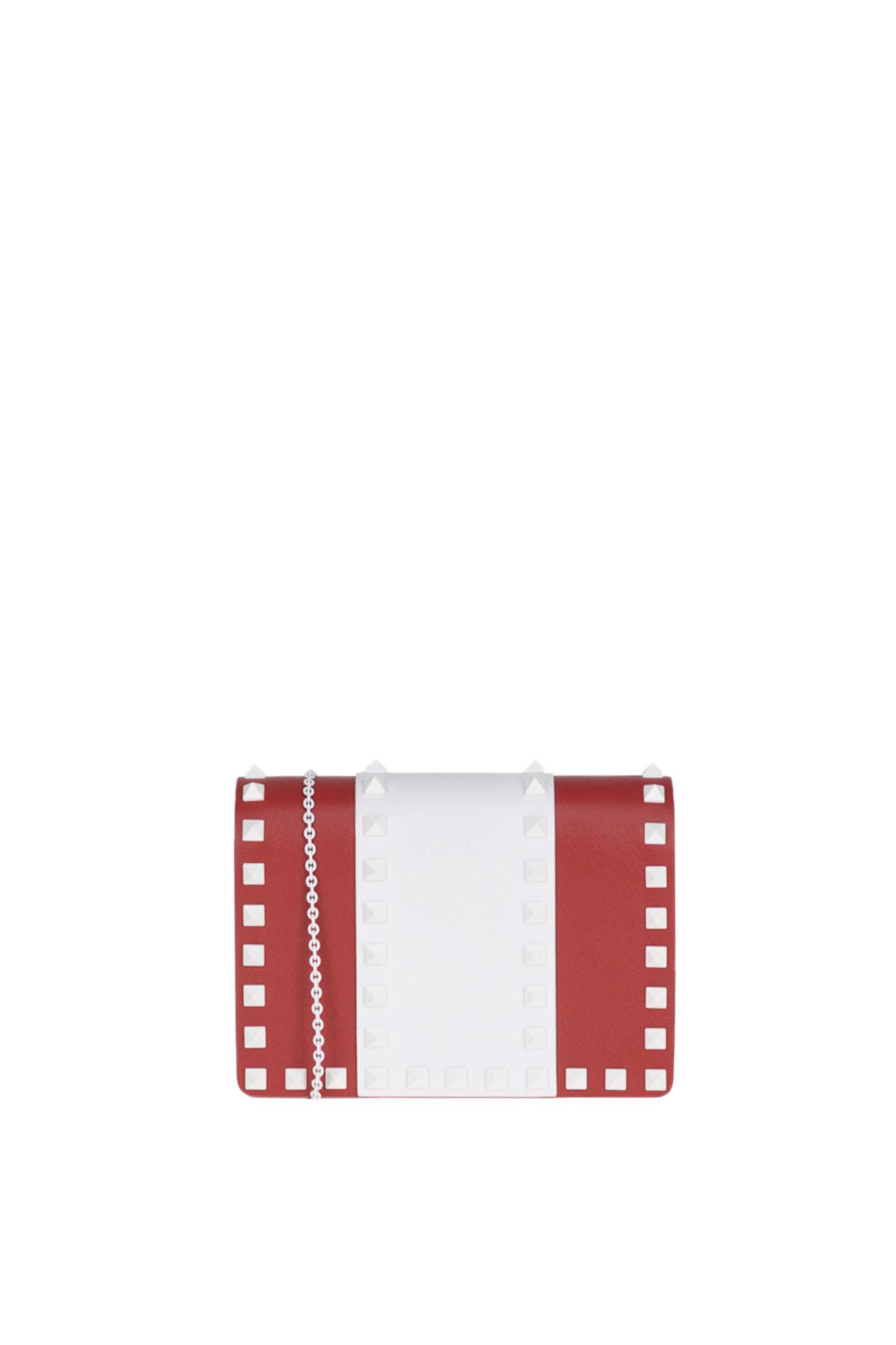 Valentino 'Rockstud' Mini Bag In Red