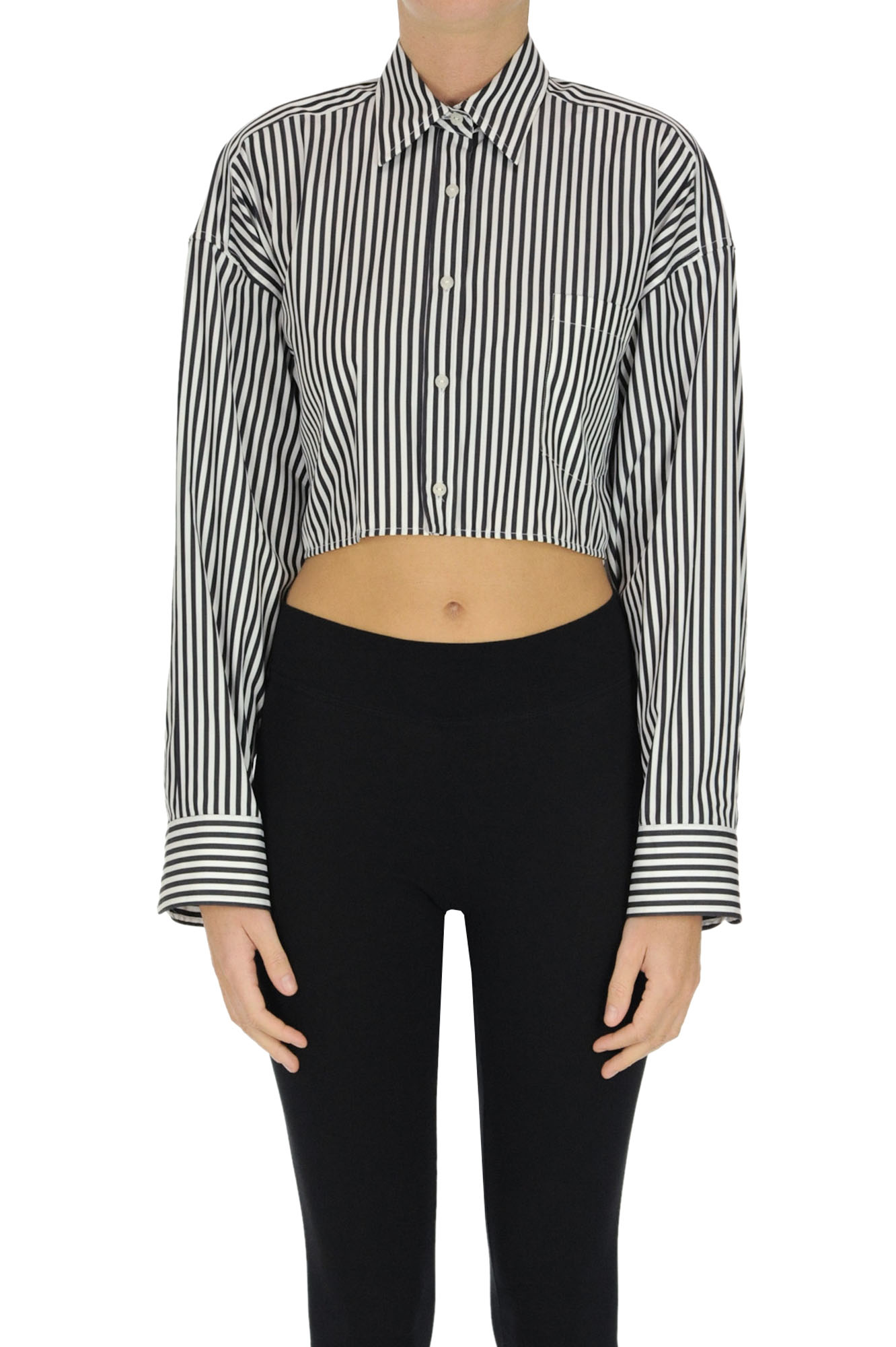 Ermanno Scervino STRIPED CROPPED SHIRT