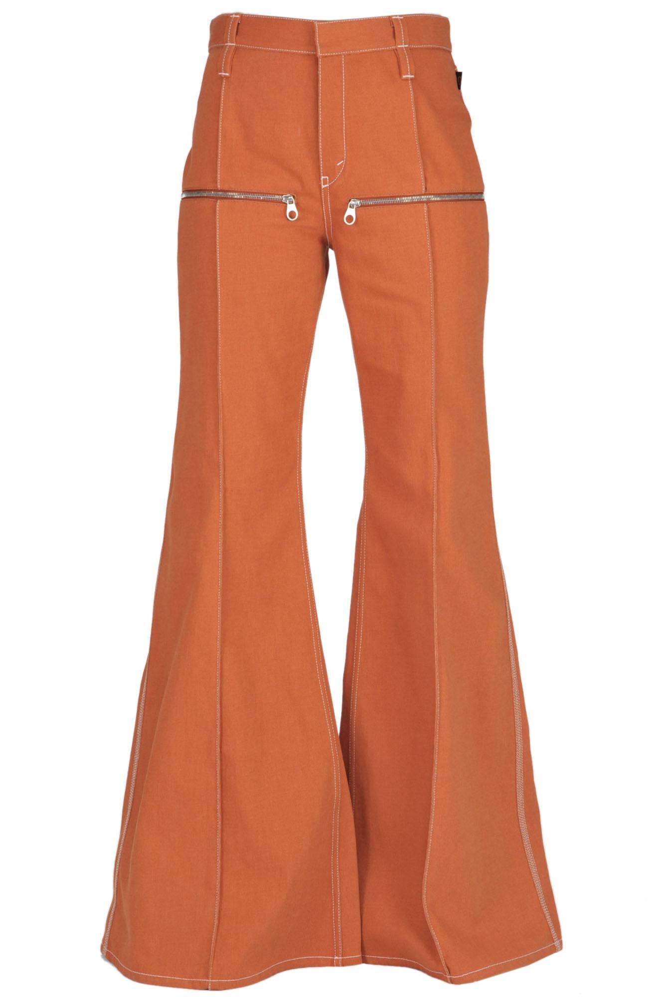 ChloÉ Flared Leg Jeans In Copper