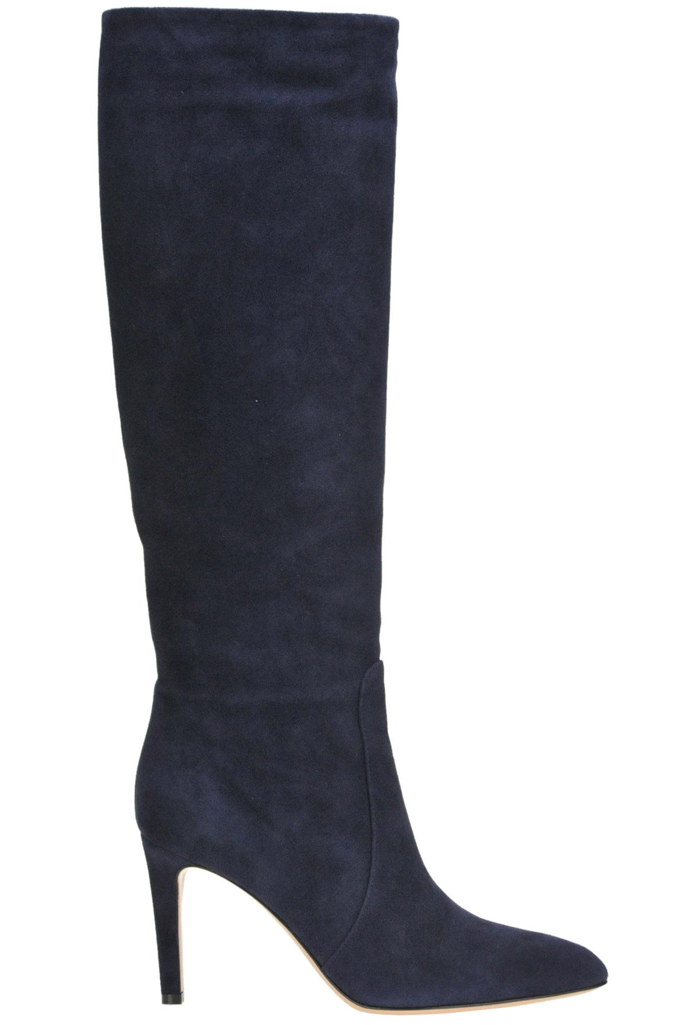 Dana Suede Boots in Navy Blue