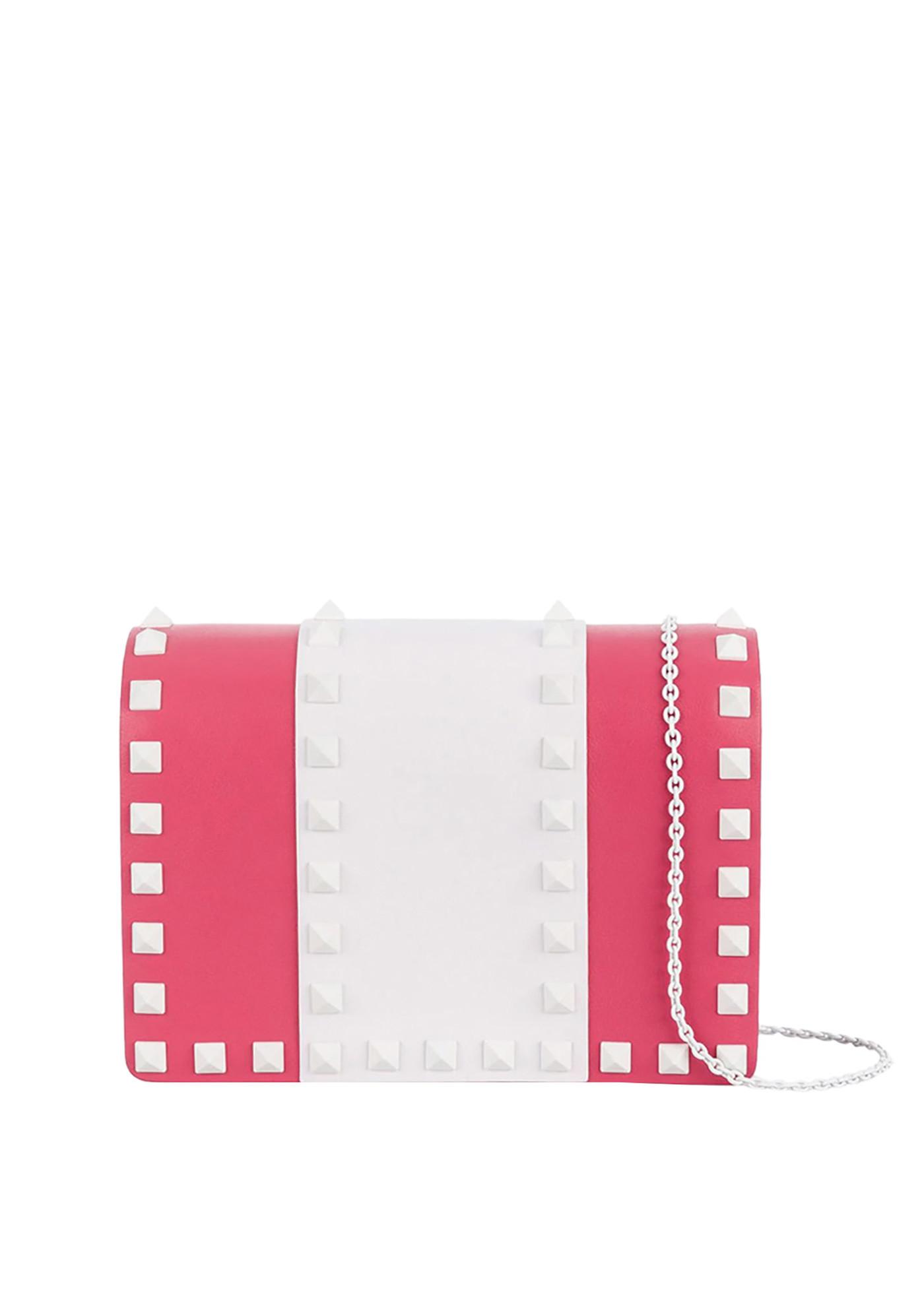 Valentino 'Rockstud' Mini Bag In Dark Pink