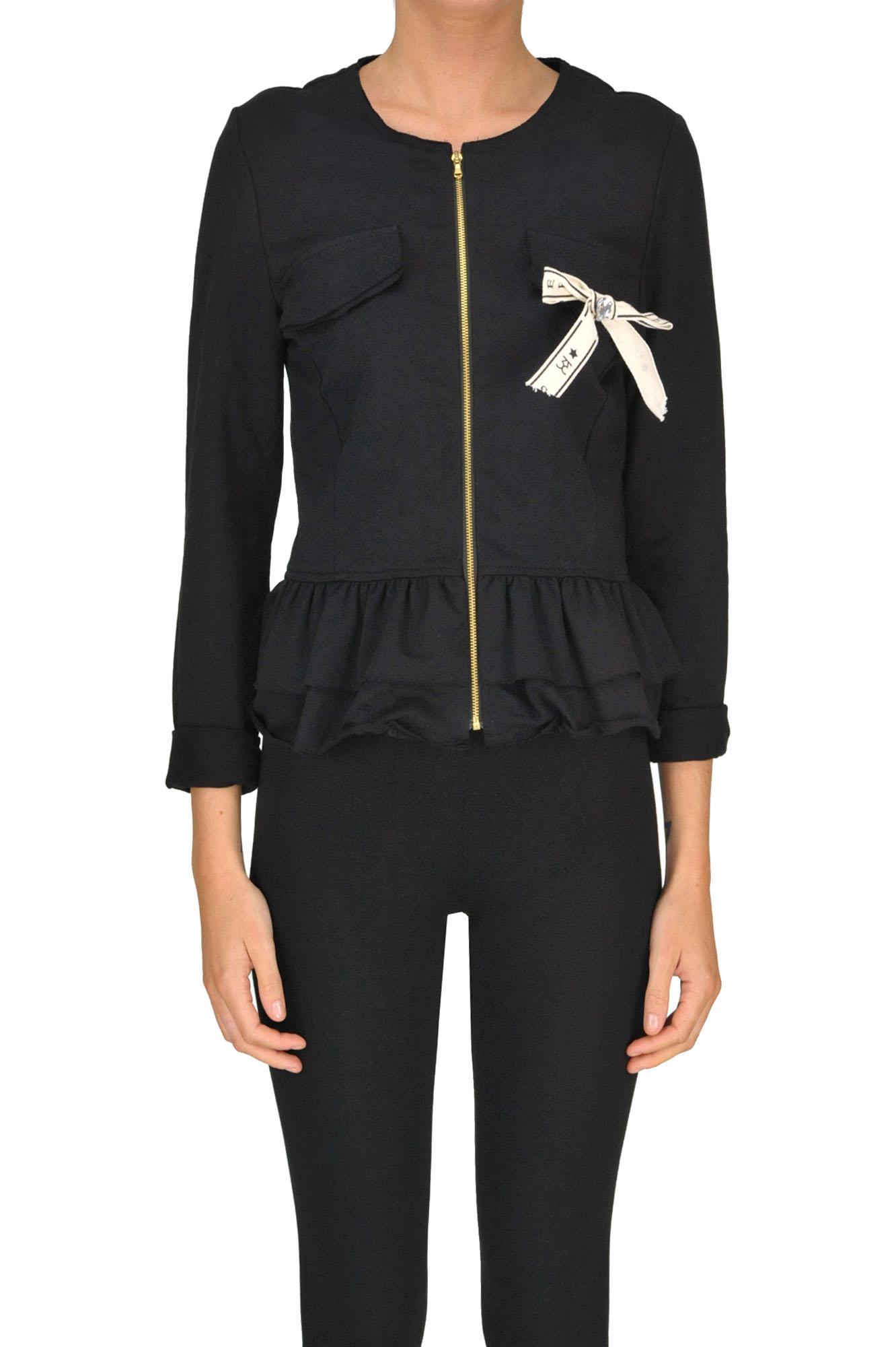 SWEET MATILDA Fleece Jacket in Black