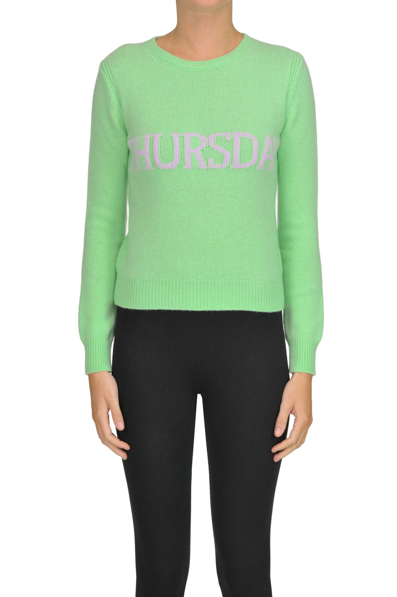 Alberta Ferretti 'Thursday' Pullover In Pastel Green