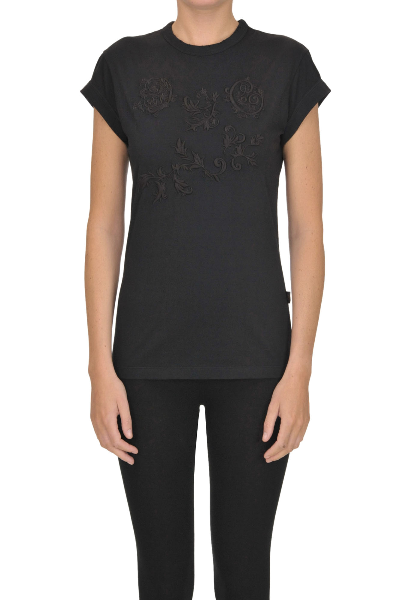 ChloÉ Embroidered T-Shirt In Black