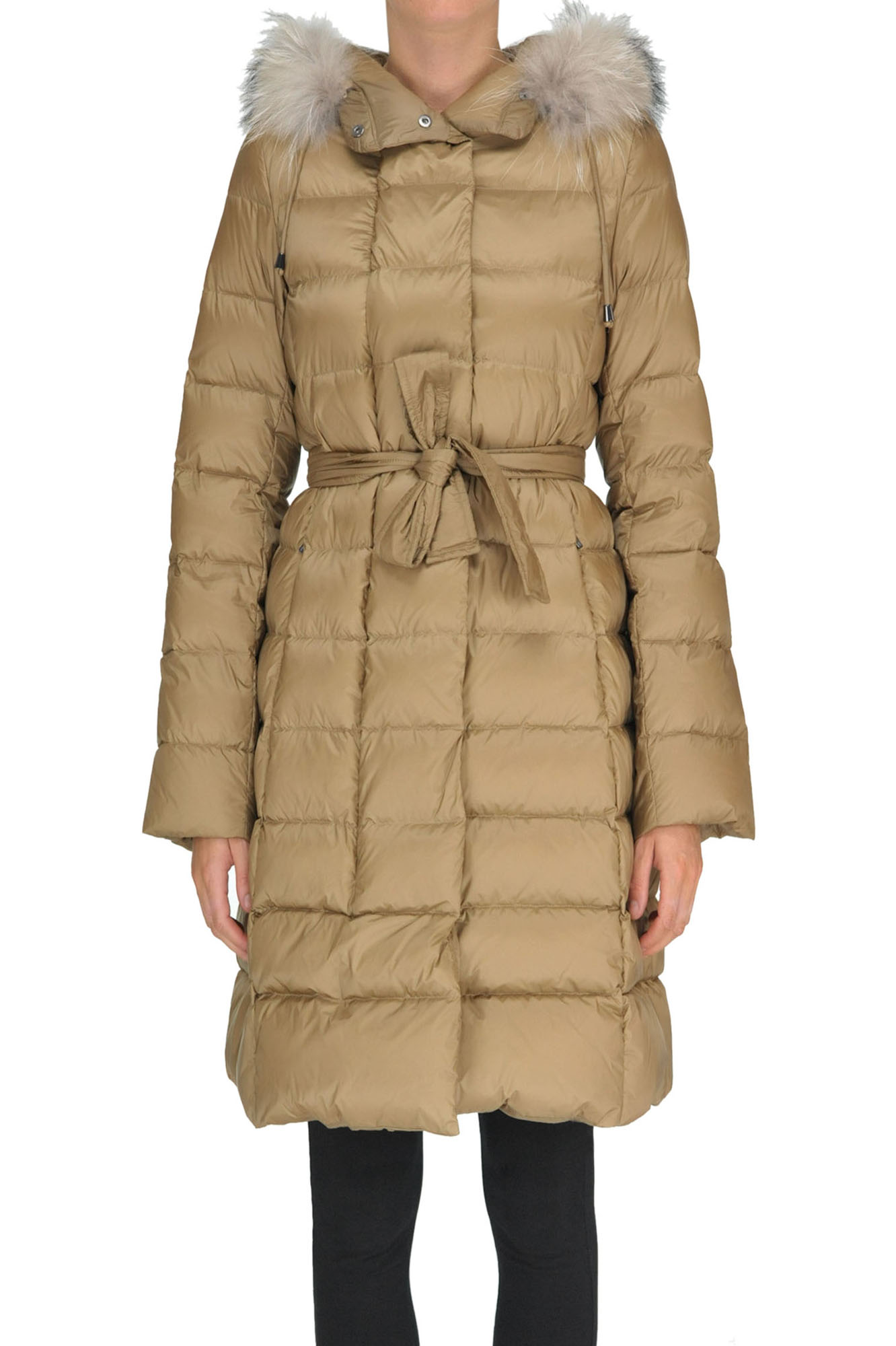 SEVENTY Quilted Down Jacket in Camel