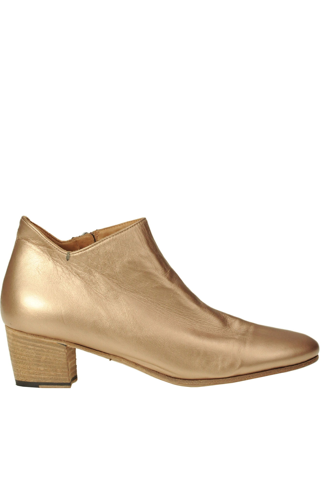 Pantanetti METALLIC EFFECT LEATHER ANKLE BOOTS