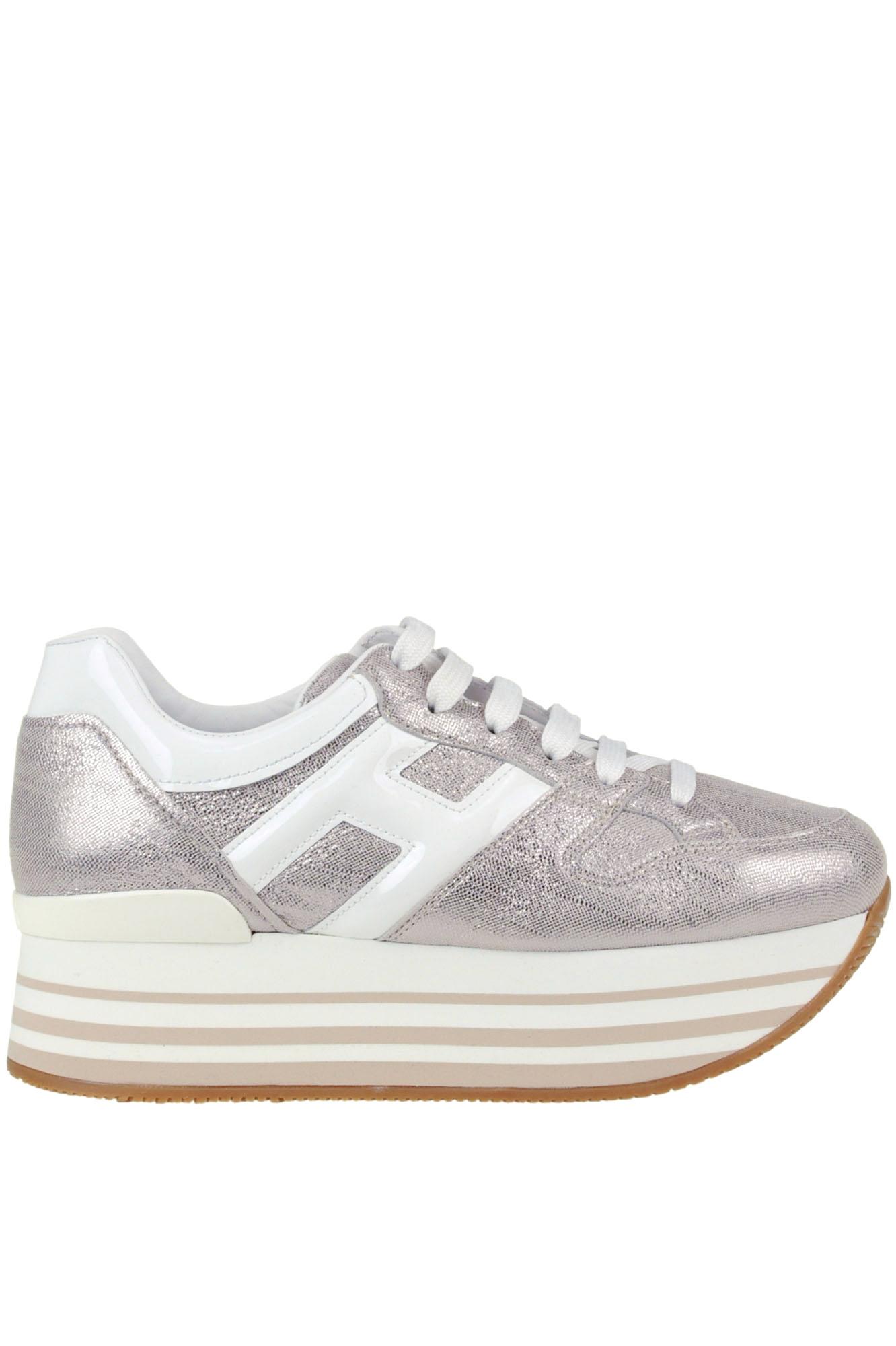 Hogan Maxi 222 H283 Wedge Sneakers In Gray   ModeSens