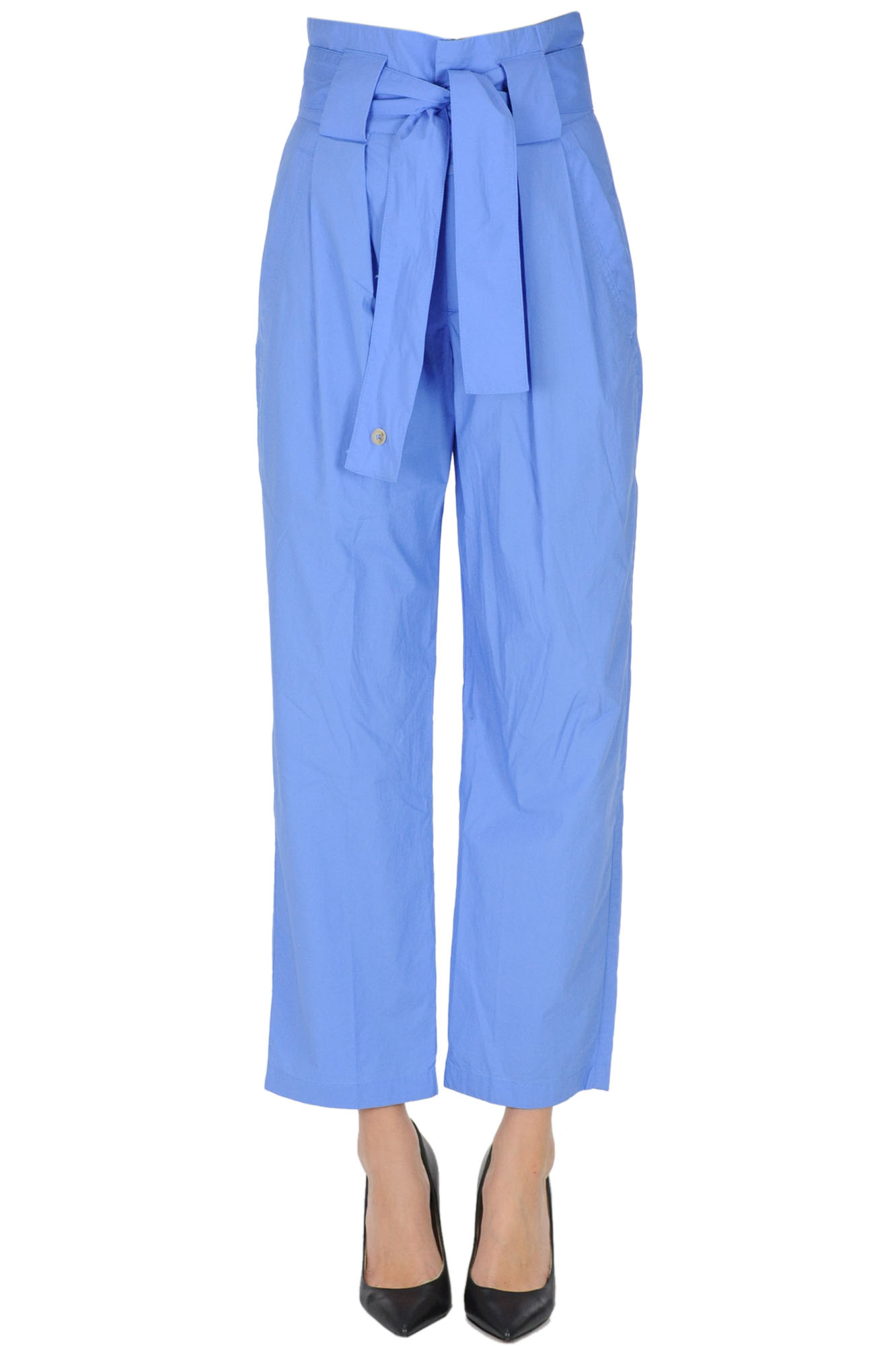 Closed PAPER BAG ORGANIC COTTON TROUSERS