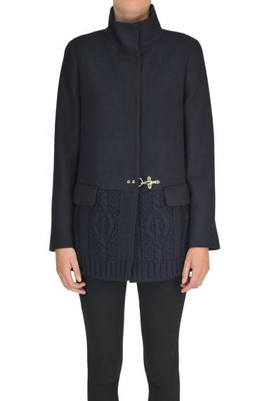 sale retailer 1ec09 d7eb3 Cappotto con inserto in maglia