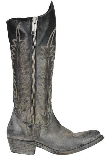 nuovo arrivo 31f1b eaef9 Stivali texani in pelle invecchiata