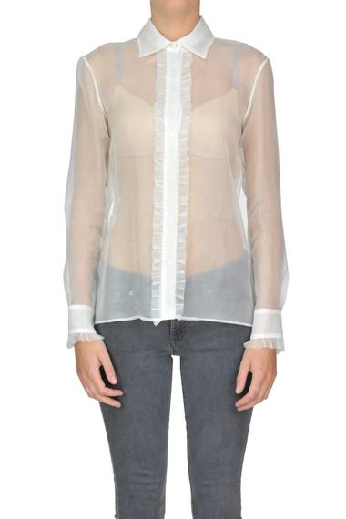 Acquista Ora Space Online Concept Camicia Seta In Style Con Ruches xx0O8wf