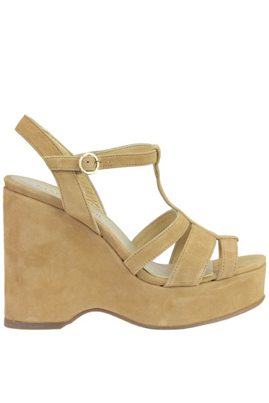 1aee0bc10 Marcela Yil Suede wedge sandals - Buy online on Glamest.com ...
