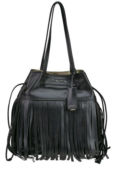 4dbca0b1a870 Miu Miu City Calf fringed bag - Buy online on Glamest.com - Glamest ...