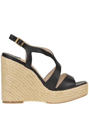 b8183d518 Paloma Barcelò Leather wedge sandals - Buy online on Glamest.com ...
