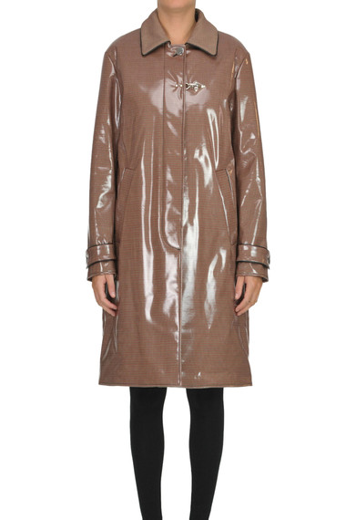 best service b428e 9b233 Hound's-tooth print rain coat