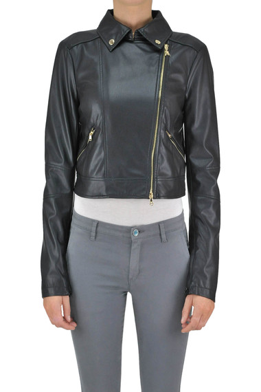 buy popular 1660c 63aee Giubbotto cropped in ecopelle