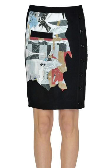 f98357fa9e3e5 Moschino Couture Gonna a tubino in maglia