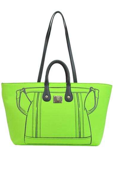 97b8901ea625 V°73 Neoprene shopping bag - Buy online on Glamest.com - Glamest.com ...