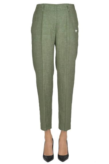 The Editor Pantaloni in misto lino - Acquista online su Glamest.com -  Glamest Luxury Outlet Online Donna