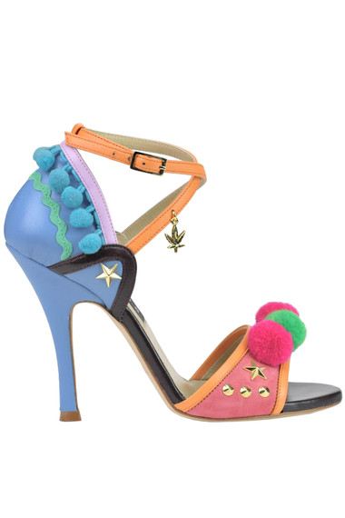 58c4f05cf John Richmond Embellished leather and suede sandals - Buy online on ...