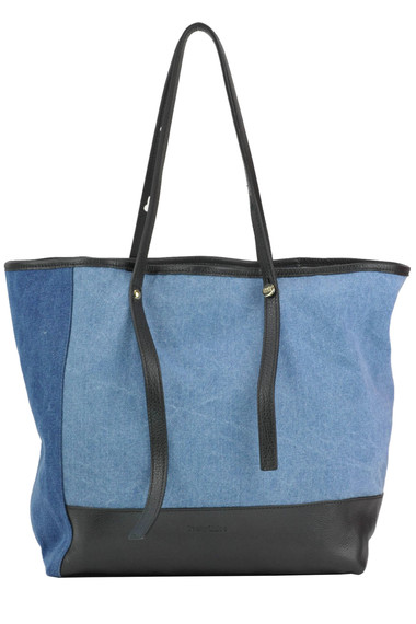 d4e300830965 See by Chloé Denim and leather shopping bag - Buy online on Glamest ...