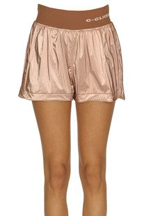 Metallic effect fabric shorts Pinko