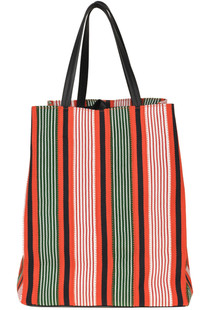 Striped canvas shopping bag Céline