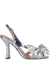 Metallic effect leather sandals L'Autre Chose
