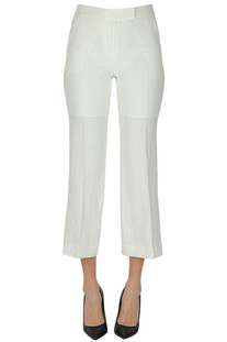 Cropped linen trousers Michael Michael Kors