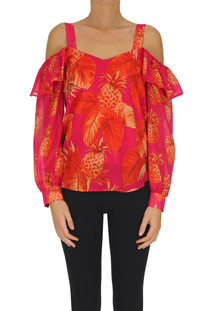 Printed cotton top Twinset Milano