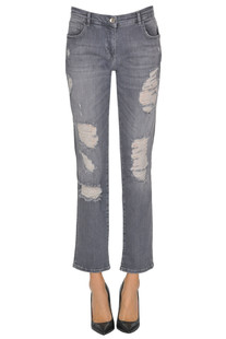 Destroyed cropped jeans Patrizia Pepe Jeans