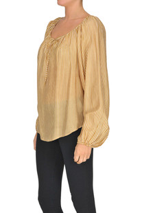 Striped silk blouse Mes Demoiselles