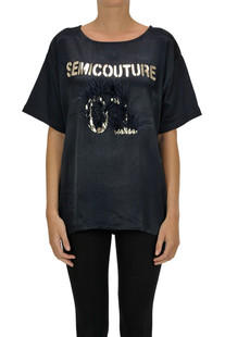 Embellished t-shirt Semicouture
