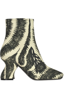 Printed fabric ankle-boots Dries Van Noten